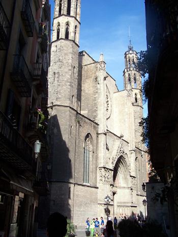 église quartier gothique barcelone